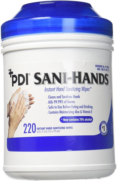 Amazon.com : Sani-Hands Hand Sanitizer Wipes 100 Packets