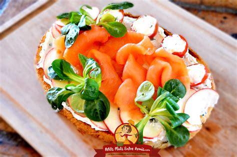 recette de la bruschetta au saumon petits plats entre amis