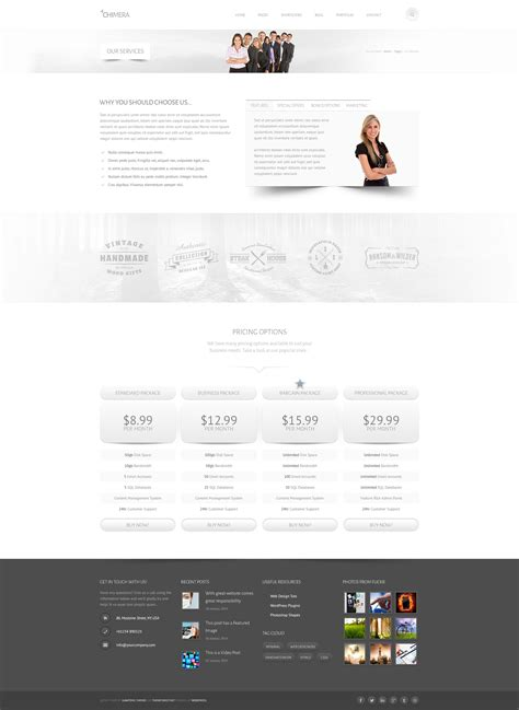 Chimera Template by Chimera A Bright Light Psd Template By Subatomicthemes