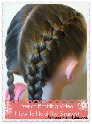 french braid hairstyles  girls princess