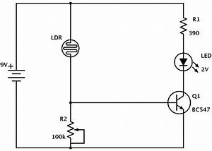 ldr circuit diagram build electronic circuits With led light bar wiring harness with remote including simple led circuit