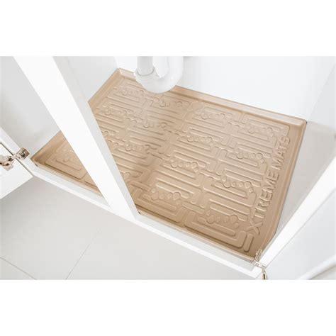 under sink mat drip xtreme mats beige kitchen depth under sink cabinet mat