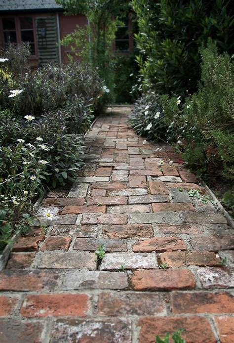 small path    bricks   cottage herb garden