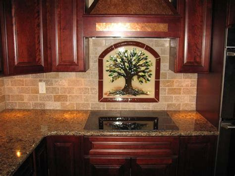 """Tree of Life"" Kitchen Backsplash in Fused Glass"