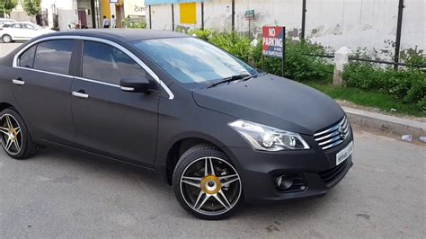 Suzuki Ciaz Modification by Suzuki Ciaz Matte Black Wrap Car Wrap Ciaz