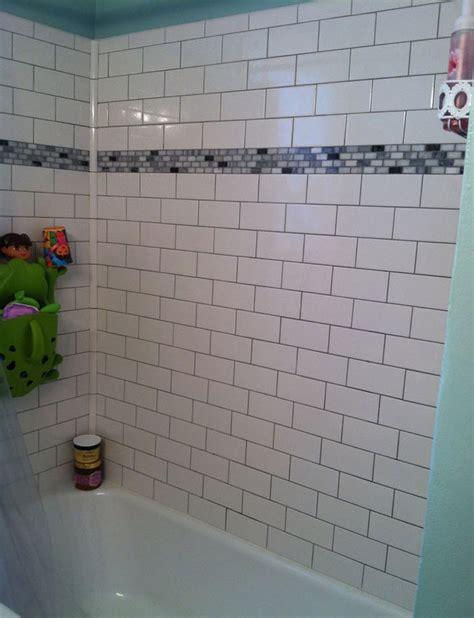 subway tile bathroom floor ideas 29 white subway tile tub surround ideas and pictures