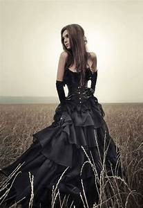 Fabulous black corset wedding dresses ipunya for Black corset wedding dress