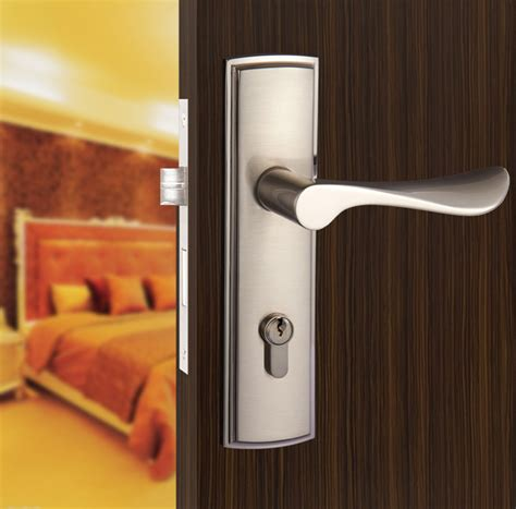 Bathroom Door Handle With Lock New Aluminum Material Interior Door Lock Living Room