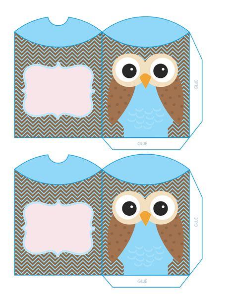 Owl Pillow Box Template by Cajas Almohada Con B 250 Hos Para Imprimir Gratis Oh My 15