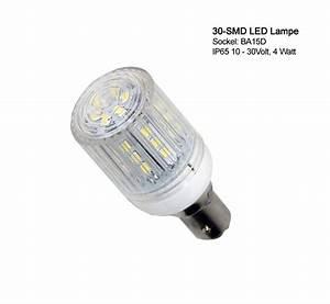 Led Verbrauch Berechnen : 30 smd led lampe mit schutzkapsel ip65 wasserfest ba 15d sockel 12 24 volt 4w ebay ~ Themetempest.com Abrechnung