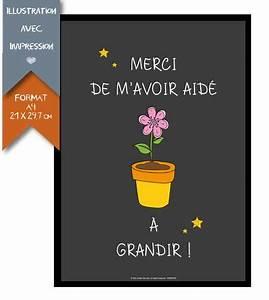 Cadeau Pour Maitresse D École : affiche imprim e cadeau de fin d 39 ann e ma tresse ~ Melissatoandfro.com Idées de Décoration