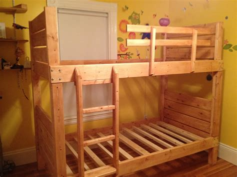 Loft Bed Plans by White Sturdy Bunk Beds Diy Projects