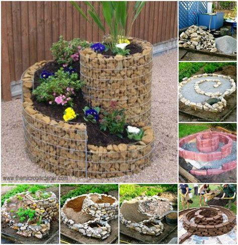 how to make an herb garden how to build herb spiral garden beesdiy