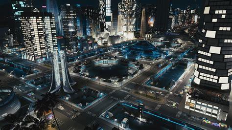 Futuristic City Square : CitiesSkylines