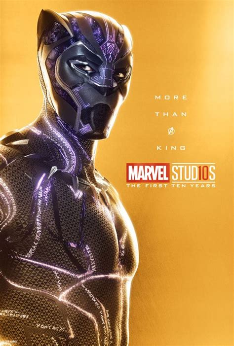 marvel anniversary 10th studios avengers war infinity panther posters poster releases wave hulk guardians galaxy focus lead