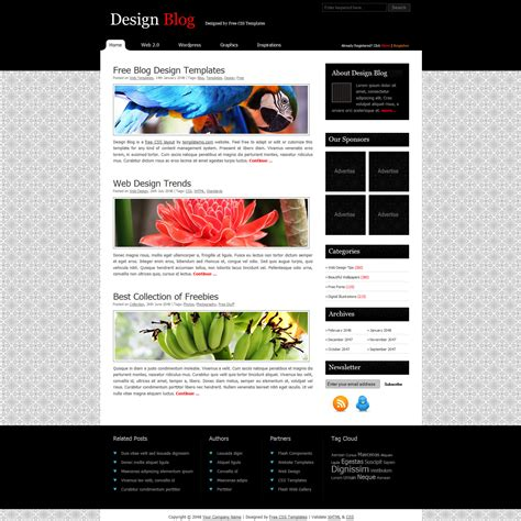 Free Template  Design Blog