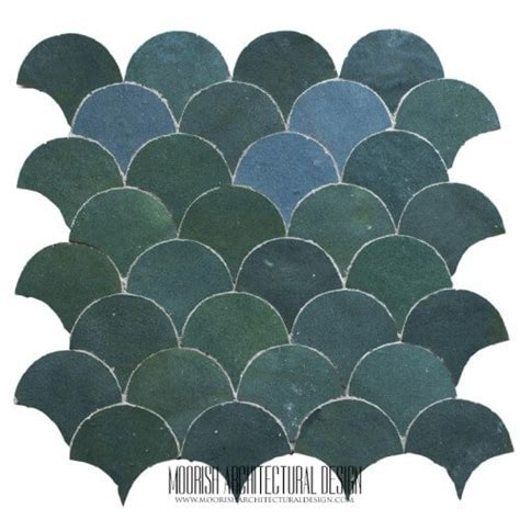moroccan fish scale tile pattern