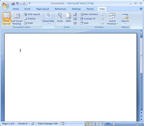 Print Layout View  Document View « Editing « Microsoft