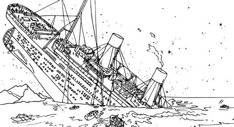 Titanic Kleurplaat by Titanic Coloring Pages Homeschooling Unit Study