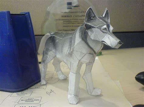 timber wolf  papercraft    scotch tape