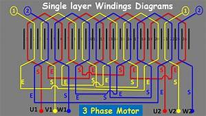 Single Layer 3 Phase Induction Motor Winding Diagram For