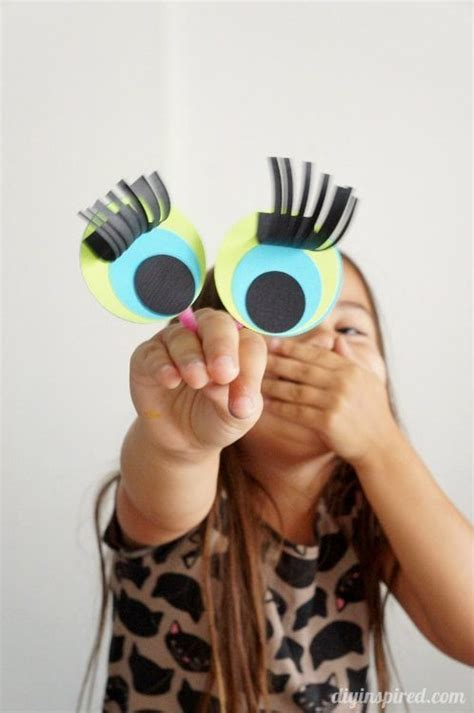 paper finger puppet craft  kids diy inspired