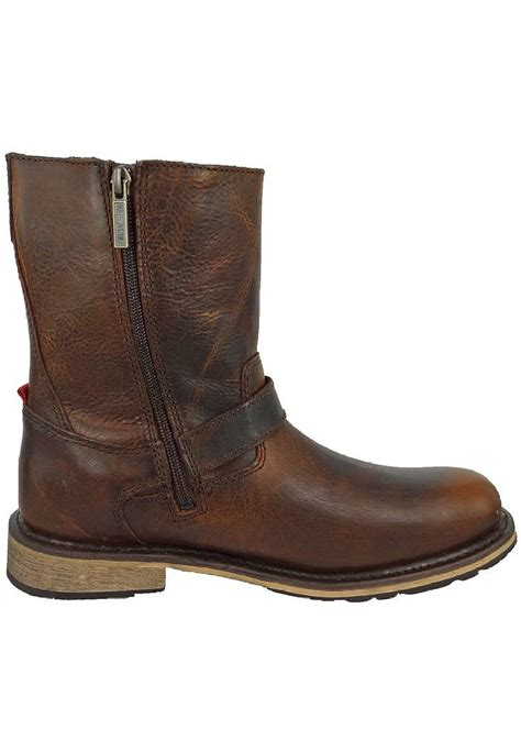mens brown leather motorcycle boots harley davidson karl mens brown leather side zip buckle