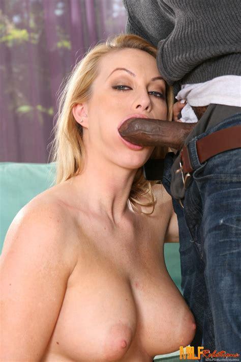 Sexy Milf Porn Star Aline Sucking A Big Black Cock Photos