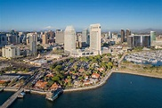 Seaport Village San Diego Downtown Waterfront Aerial ...