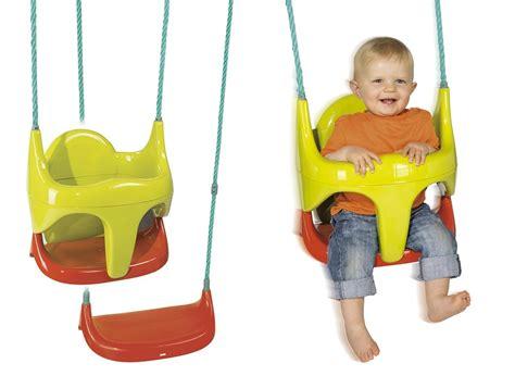 siège balançoire pour bébé 2 en 1 smoby jardideco