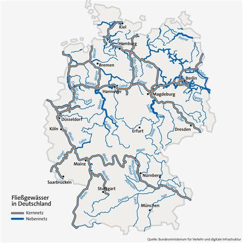 Flüsse In Bayern Karte