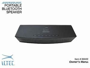 Altec Lansing Bluetooth Speaker Pairing Instructions
