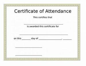 certificate of attendance seminar template - 2018 certificate of attendance fillable printable pdf