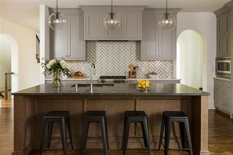 Soapstone Island Countertop by Chocolate Brown Center Island With Soapstone Countertop
