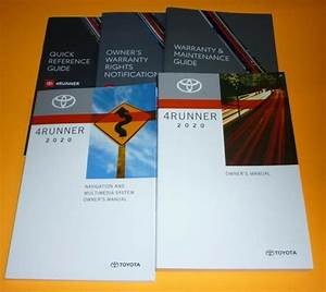 2020 Toyota 4runner Owners Manual Set 20 Sr5 Trd Limited