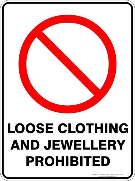 loose clothing  jewellery prohibited australian