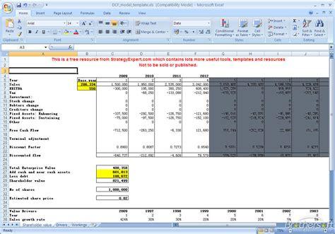 dcf template free dcf model dcf model