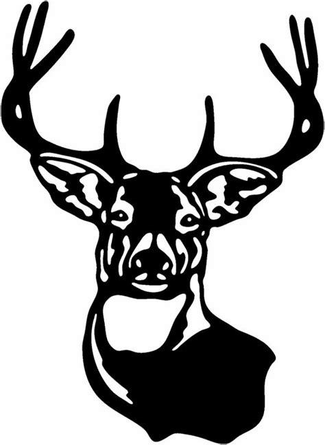 buck deer head coloring deer head silhouette deer decal