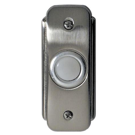 door bell button recessed lighted doorbell button br2 pw destination