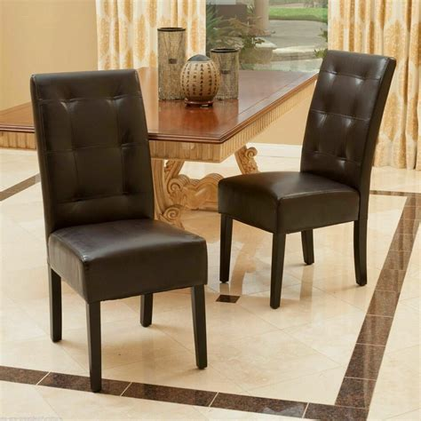 set   dining room furniture tufted brown leather dining