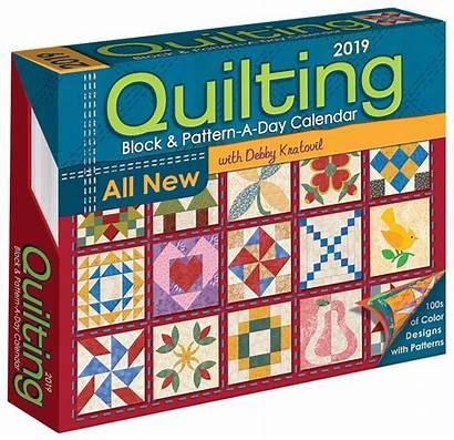 Calendar Quilting Quilt Block Pattern Patterns Desk