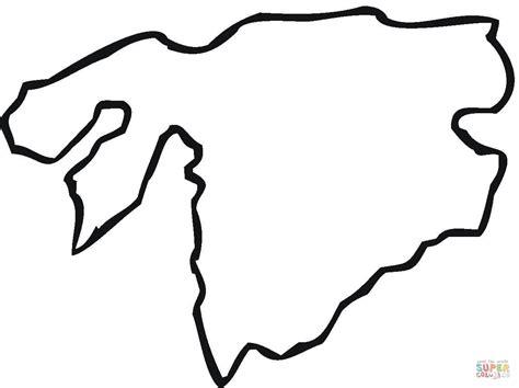 Kleurplaat Land Polen by Disegno Di Contorno Della Mappa Guinea Bissau Da