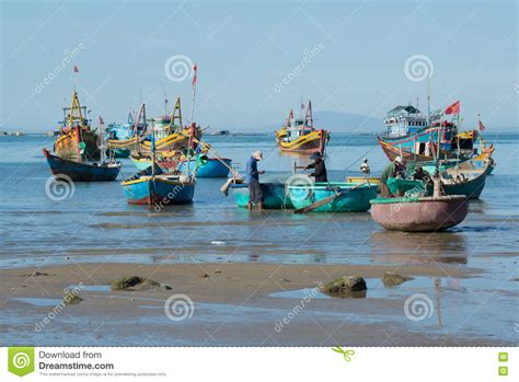 Boats To Go by Fishermen And Fishing Boats Are Preparing To Go To Sea For