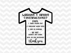 Washing Instructions Svg Shirt Care Svg Care Instructions