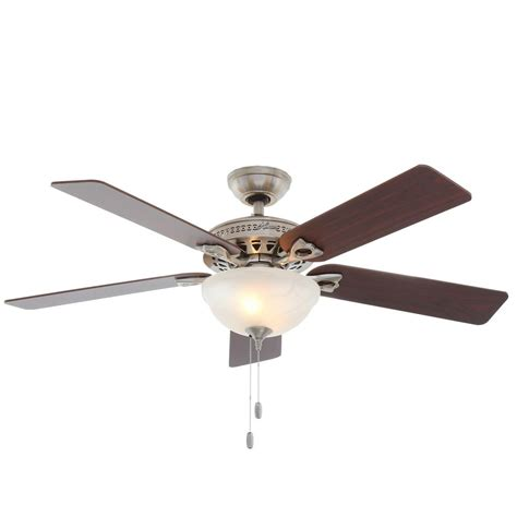 hunter 52 winslow brushed nickel ceiling fan hunter astoria 52 in indoor brushed nickel ceiling fan