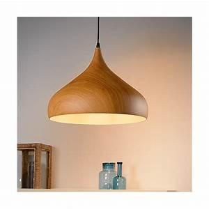 Luminaire Suspension Bois : suspension bois woody d42cm luminaire discount ~ Teatrodelosmanantiales.com Idées de Décoration