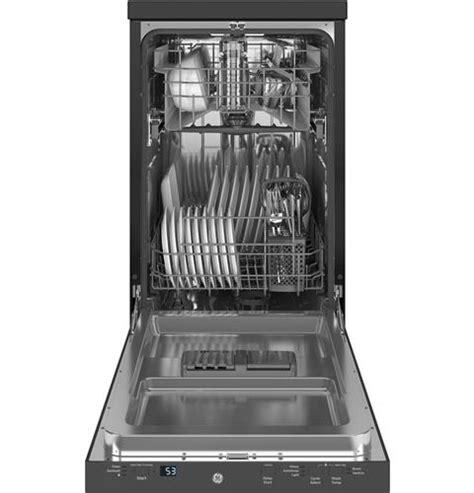 ge  stainless steel interior portable dishwasher  sanitize cycle gptsslss ge