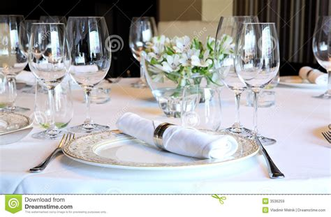 fancy table set   dinner royalty  stock images