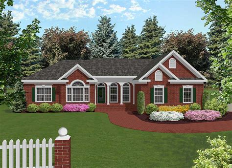 Attractive Midsize Ranch  2022ga  Architectural Designs