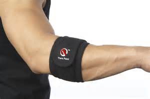 Thera Point Acupressure and Thermal Elbow Support Strap/Brace for Tendonitis, Tennis Elbow, Golfers Elbow – Large/X-Large